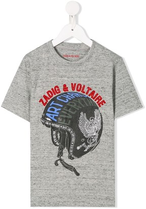 Zadig & Voltaire Kids graphic print T-shirt