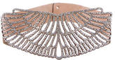 Roberto Cavalli Crystal Cutout Waist Belt