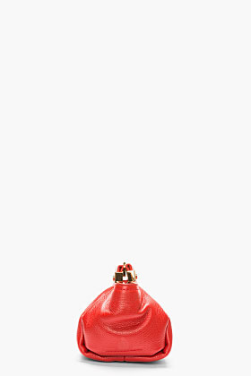 Lanvin Red Leather Trilogy Clutch