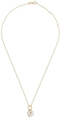 Foundrae 18kt yellow gold diamond disc necklace