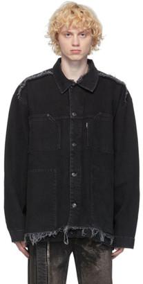 Ottolinger Black Denim Oversized Jacket