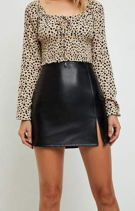 La Hearts Faux Leather Mini Skirt