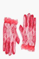 boohoo Halloween Lace Gloves