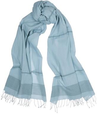Eileen Fisher Rain light blue cotton scarf