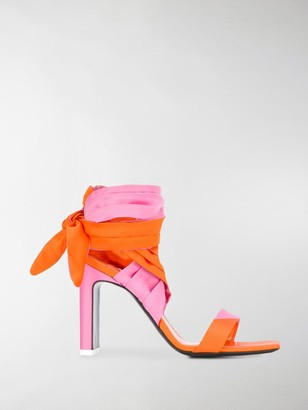 ATTICO Ankle-Tie Sandals