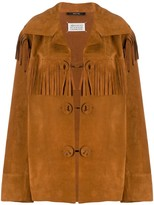 Maison Margiela suede fringed jacket