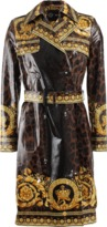 Versace Printed Belted Trench Coat