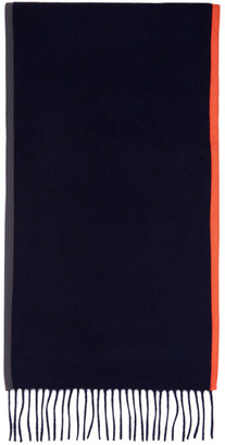 Daniel W. Fletcher Navy Bound Edge Scarf