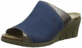 Fly London Women's IDAR569FLY Wedge Mules (Blue/Bronze 003) 9 (42 EU)
