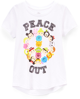Jerry Leigh White Disney Tsum Tsum 'Peace Out' Tee - Girls