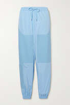 Thumbnail for your product : Stella McCartney + Net Sustain Kara Paneled Organic Cotton-ripstop And Shell Track Pants - Blue