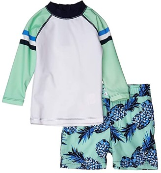 Shade Critters Rashguard Pineapple (Infant/Toddler) (Green) Boy's Swimwear Sets