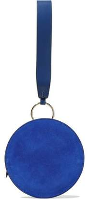 Diane von Furstenberg Circle Suede And Leather Clutch