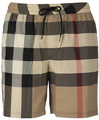 Burberry Check Drawcord Swim Shorts Guildes Archive Beige