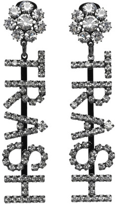 Ashley Williams Black and Transparent Trash Drop Earrings