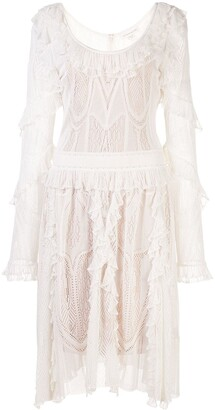 ZUHAIR MURAD Flared Ruffled Dress