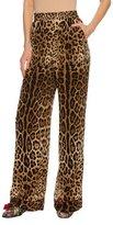 Dolce & Gabbana Leopard-Print Silk Wide-Leg Pajama Pants, Leopard
