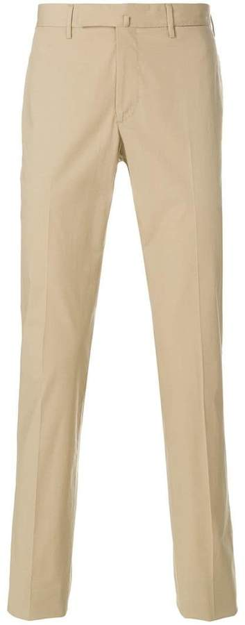 Incotex creased straight leg trousers