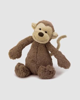 Jellycat Brown Animals - Bashful Monkey Medium - Size One Size at The Iconic