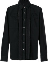 Sacai embroidered denim shirt