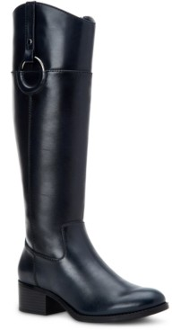 Alfani Women's Bexleyy Wide-Calf Riding Leather Boots, Created for Macy's Women's Shoes