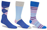 Roundtree & Yorke Gold Label Argyle Assorted Crew Dress Socks 3-Pack
