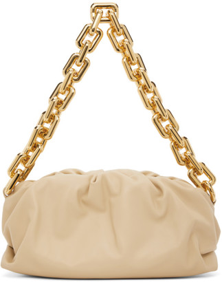 Bottega Veneta Beige The Chain Pouch Clutch
