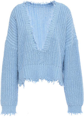 Wildfox Couture Frayed Cotton Sweater