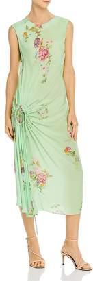 Preen Line Aida Shirred Floral Midi Dress