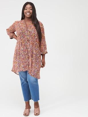Junarose Ariarevea Long Printed Shirt - Lilac