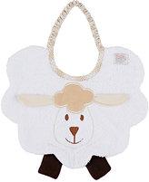Zigozago Sheep Bib-WHITE, BROWN, CREAM
