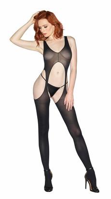 Dreamgirl Women's Sheer Suspender Tank Body Stocking