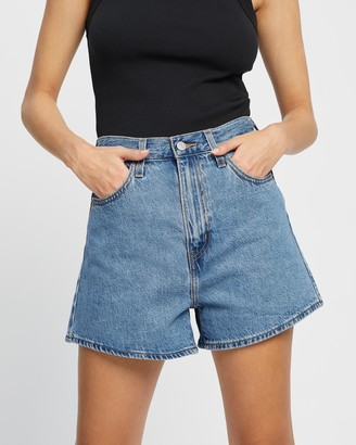 Levi's Women's Blue Denim - High Loose Shorts - Size 24 at The Iconic