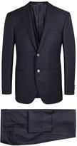 Corneliani Navy Three-piece Ceremonial Wool Jacquard Suit