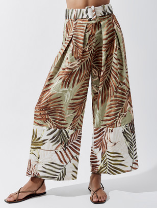PatBO Palmeira Cropped Belted Pant