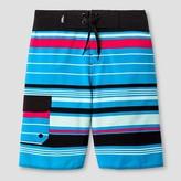No Fear Boys' Multistripe Boardshort Black/Blue