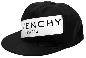 Givenchy Logo-print Cap - Mens - Black White