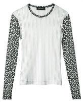 Yigal Azrouel striped mesh blouse