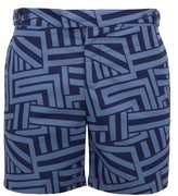 Frescobol Carioca Geometric-print Swim Shorts - Mens - Navy Multi