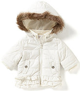 Starting Out Baby Girls 3-24 Months Ruffled Faux-Fur Coat