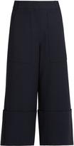 Tibi Anson wide-leg crepe trousers