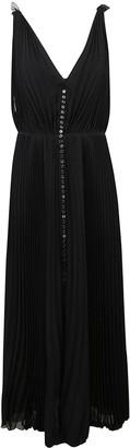 Chloé V-neck Pleated Long Dress