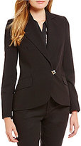 KARL LAGERFELD PARIS Notch Collar Button Front Blazer