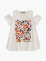 Lucky Brand Penny Painted Floral Tee