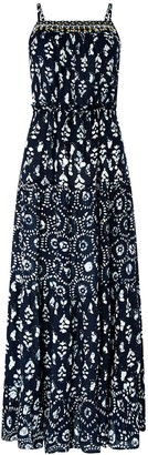 Monsoon Anjali BatikMaxi Dress - Navy