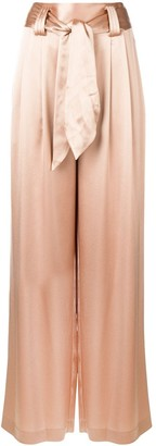 Tory Burch Shiny Wide-Leg Trousers