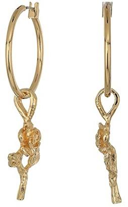Vanessa Mooney Little Rose Hoops Earrings (Gold) Earring