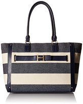 Tommy Hilfiger TH Rugby Stripe Tote Top Handle Bag