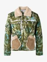 James Long Camouflage Work Jacket With Sheepskin Collar