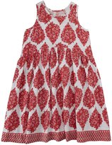 Pink Chicken Marni Dress - Red Woodblock-6 Years